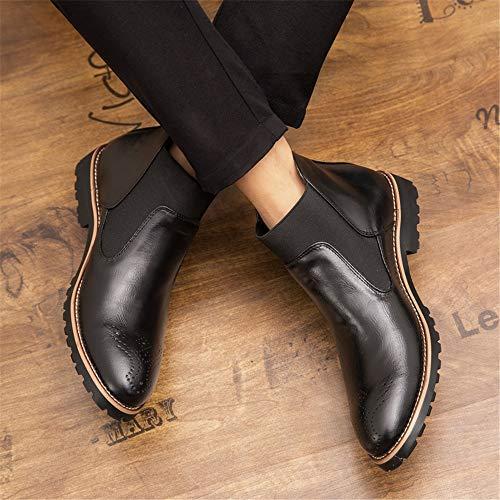 Confortable color Taille Et Noir Homme Botte Eu À Mode Pour Classique 38 Bottines Ruanyi Gravure Noir La CqwTXwS