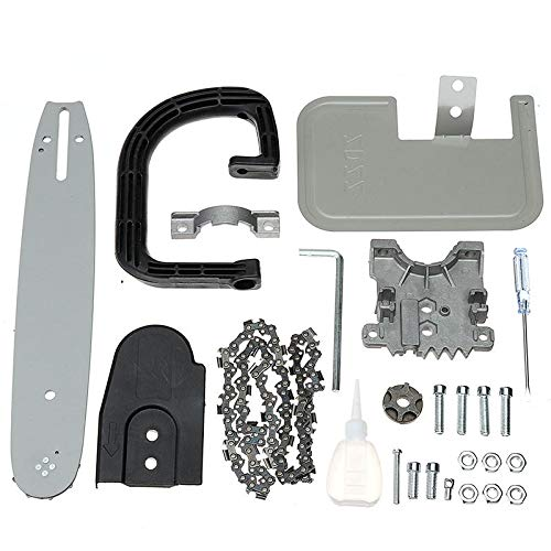 11.5 Inch Chainsaw Bracket Big Guide Board Portable Chainsaw Refit Kit Woodworking - Power Tool Parts Drill Attachment - 1 x Chainsaw Bracket Set (Angle Grinder is NOT included)