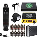 Dragonhawk Cartridge Tattoo Machine Kit Pen Rotary Tattoo Machine Cartridge Needles Power Supply for Tattoo Artists 1013-7