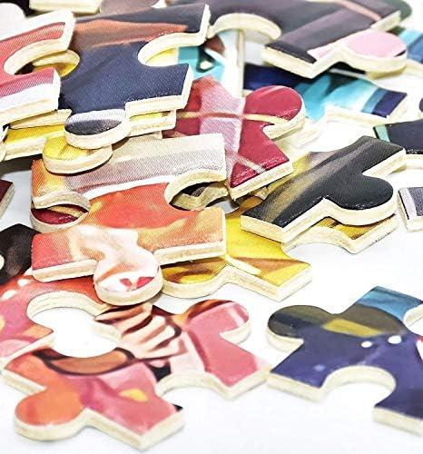 CEyyPD Leuke huisdier hond dieren puzzel voor volwassenen 1000 stukken DIY houten puzzel kits cadeau voor kinderen,75x50Cm educatieve spelletjes speelgoed