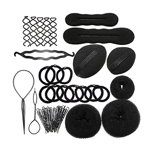 Foxnovo DIY Hair Styling Accessories Kit Set for Women Girls