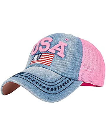 promo code 230f7 ec60f CSSD Unisex US Flag Hats, Adjustable Baseball Embroidery Caps Independence  Day Mesh Hats Hip Hop