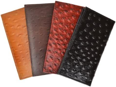 Marshal Genuine Leather New Checkbook Covers Case Wallet #156OS