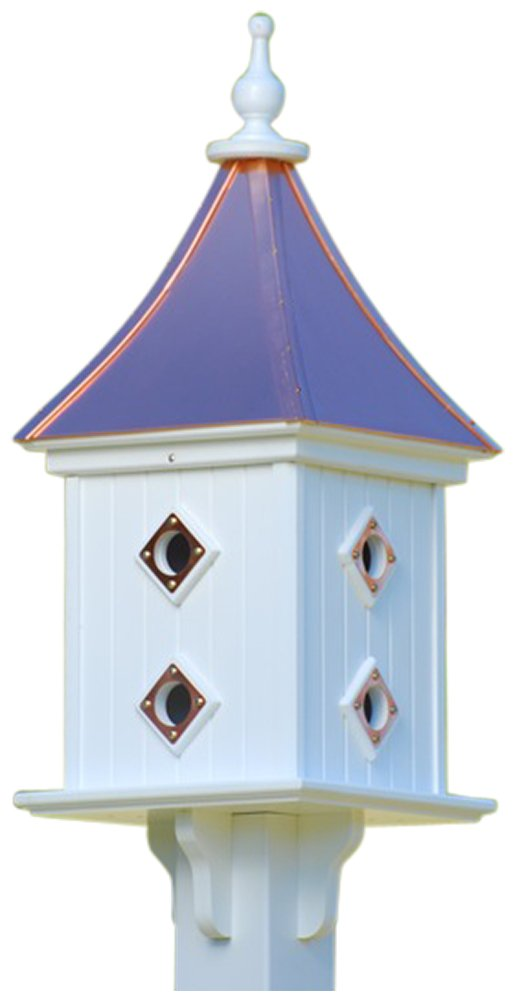 The Birdhouse Chick - Copper Birdhouse-PVC 28x12 by The Birdhouse Chick