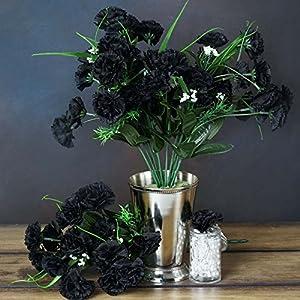 Efavormart 252 Mini Artificial Carnations for DIY Wedding Bouquets Centerpieces Arrangements Party Home Decorations - Black 104