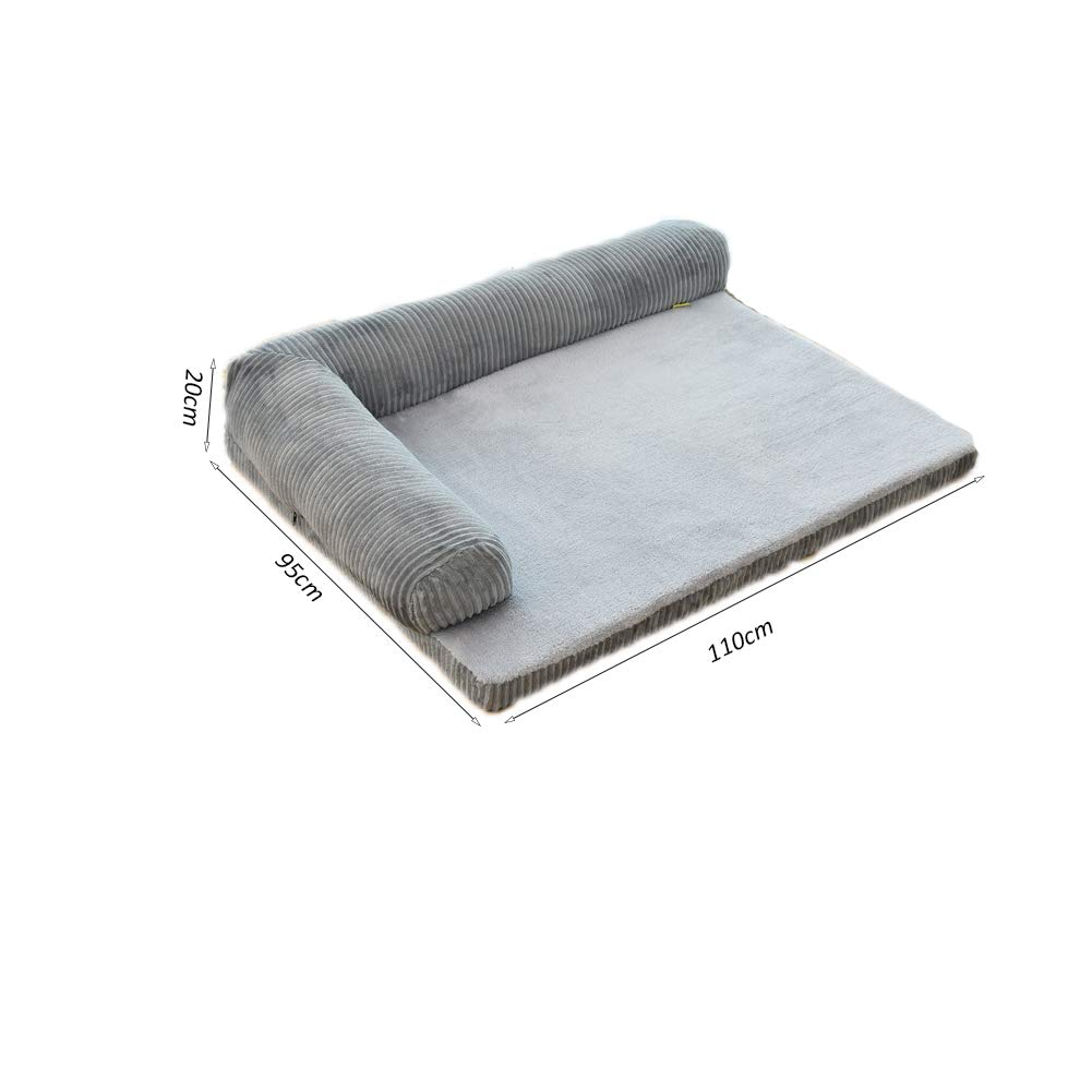Grey XL Grey XL Mishap Pet Dog Bed,portable Removable Warm Breathable Corduroy Dog Cat Sofas For Large,medium And Small Dogs And Cats