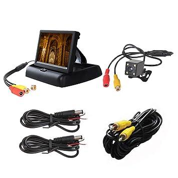 Cámara de marcha atrás con cable HD para coche, cámara de seguridad para coche,