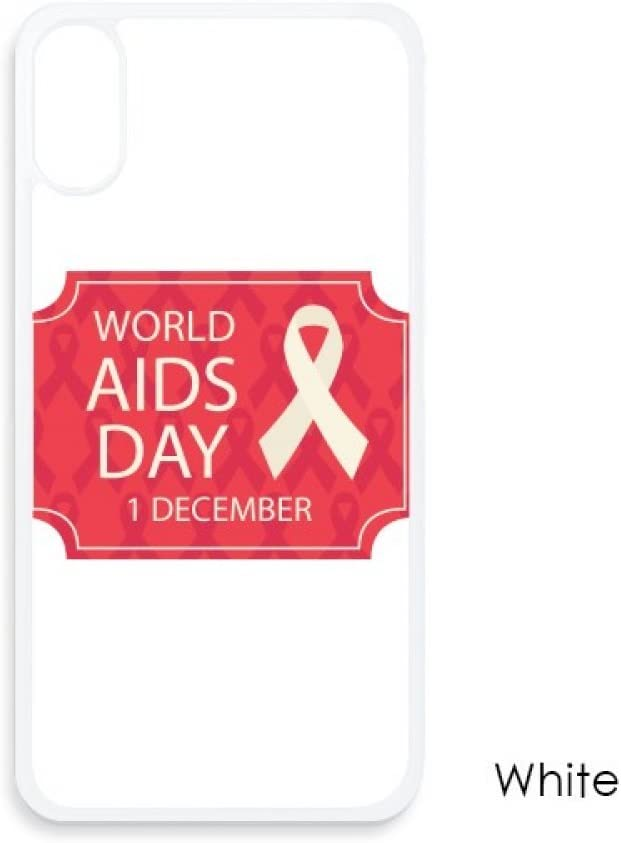 World AIDS Day Red Ribbon HIV for iPhone X Cases White Phonecase Apple Cover Case Gift