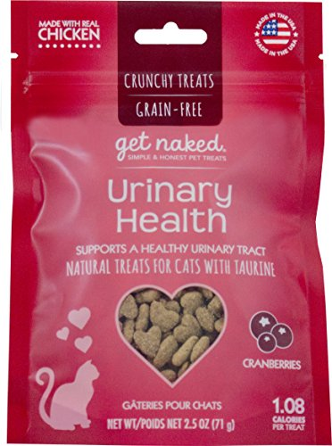 Get Naked Urinary Health Crunchy Treats for Cats (1 Pouch), 2.5 oz 51feO huJFL