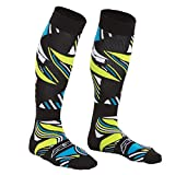 AXO MX Circuit Socks (Black/Green/Blue, One Size)