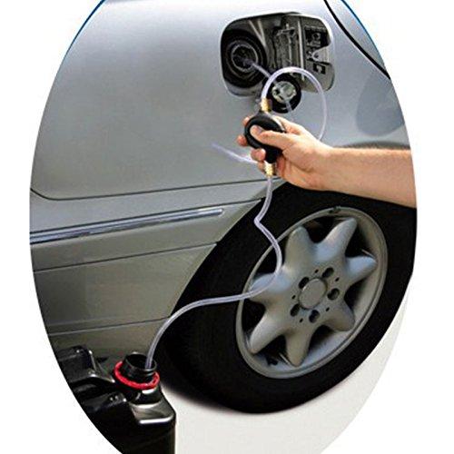 Gasolio Benzina Benzina Diesel Pompa a Mano Bulb Transfer PVC Sifone 10mm Nero Leaftree