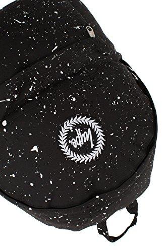 Hype Speckle Rucksack (Black/White)