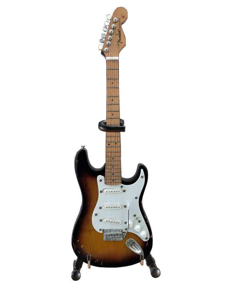 Eric Clapton's Famous Brownie Fender Strat Signature Guitar Replica Officially Licensed Mini