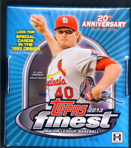 2013 Topps Finest Baseball Hobby Mini-Box (1 Mini Box - 6 Packs)