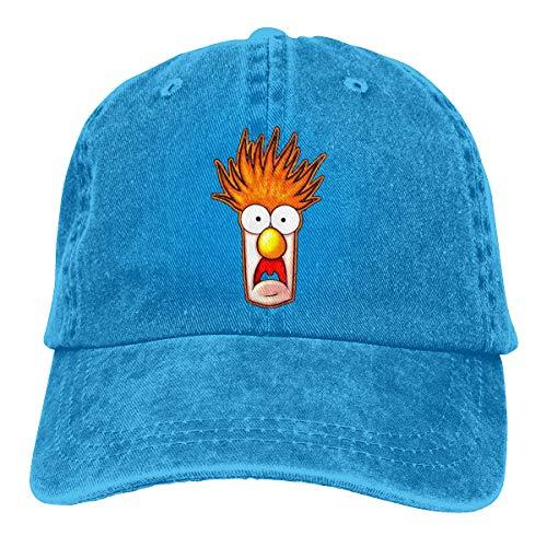 Mei73youguan Men Woman Unisex Outdoor Beaker The Muppets Face Adult Cowboy Sunbonnet Blue ()