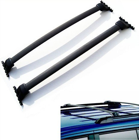 Ships From USA Band New High Quality Cross Bars for Honda Pilot 2009-2015 Black Roof Top Rack Rail Carrier Luggage (Honda Pilot Spoiler)