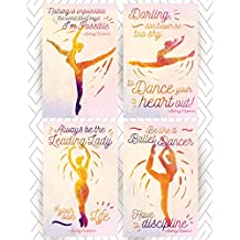 Throwback Traits Ballet Posters with Audrey Hepburn Motivational & Inspirational Quotes. A Beautiful Gift for Your Girls Bedroom or as a Home or Ballet Studio Decor