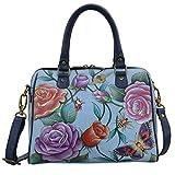 Anuschka Handbags Women's 625 Zip Around Classic Satchel Roses D'Amour Handbag