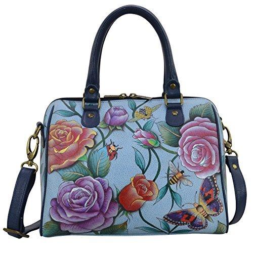 Anuschka Handbags Women's 625 Zip Around Classic Satchel Roses D'Amour Handbag by ANUSCHKA