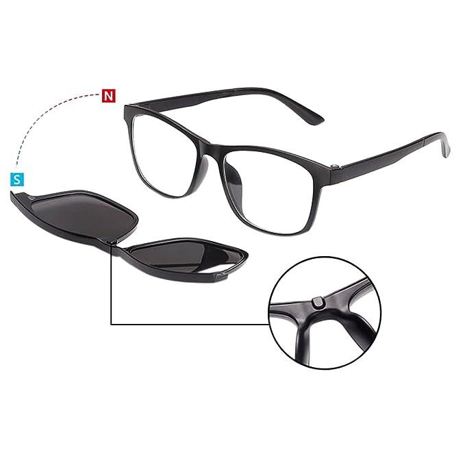 Zhuhaixmy EyeBrille Full Frame With Magnet Clip Polarisiert Sonnenbrille Dual-use Brille DVKkzRhZwL