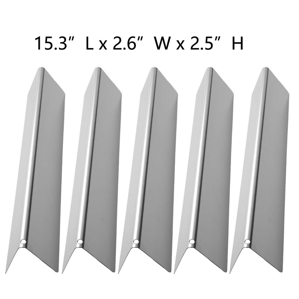 SUONA WS-36 Stainless Steel Flavorizer Bars Heat Plate/Tent Replacement Parts for Weber Spirit 300 310 320 E310 E320 Series Gas Grills with Front-Mounted Control Panels 15.3''x2.6''x2.5'' 5 Pack by SUONA