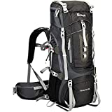 Ubon Internal Frame Backpack 60L for Hiking Camping Backpacking with Rain Cover