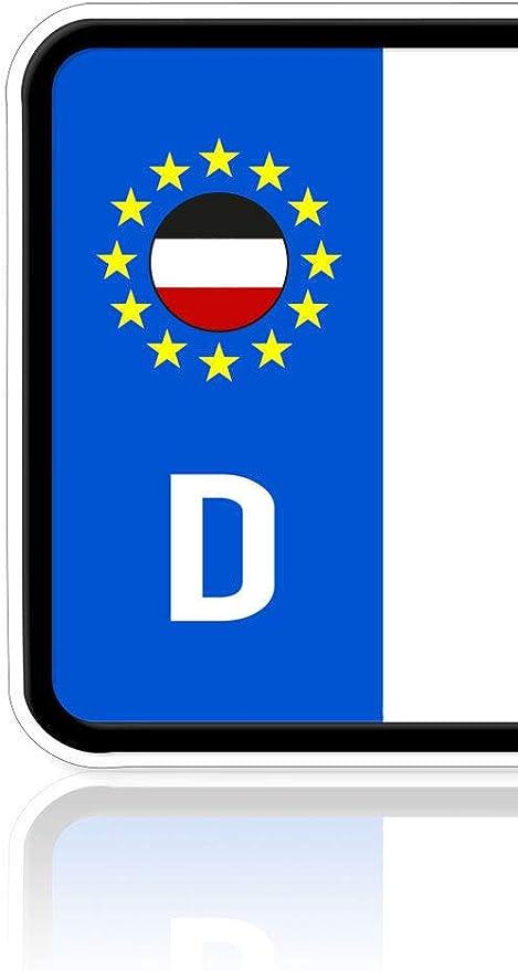 Ritter Mediendesign Aufkleber Deutsches Kaiserreich Fahne Flagge Des Nordeutschen Bundes 2 Stück Sticker Plakette Nummernschild Waschstrassenfest Auto