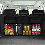 YANSHON Backseat Trunk Organizer, Trunk and Backseat Car Organizer, Super Capacity Space Saving Expert Frees Up Your Trunk Floor, Auto Hanging Seat Back Storage Organizer for SUV