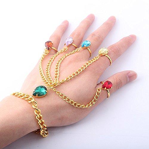 ke Infinity Gemstone Bracelet Cosplay Jewelry Imitation Thanos Gloves Jewelry Female Ring Bracelet -