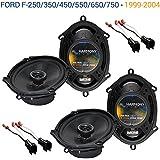 Fits Ford F-250/350/450/550/650/750 1999-2004 OEM Speaker Upgrade Harmony (2) R68 New