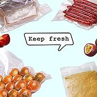 """100 Quart,Size 8"""" x 12"""" PreCut Sealer food vacuum Bag,Food Saver Vacuum Sealer Freezer Bags for Meal,Food Saver,Plus…"""
