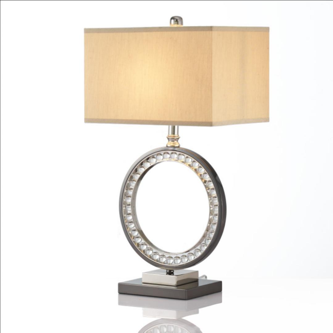 Minimalist Schlafzimmer Nachttischlampe Kristall-Hotel der gehobenen Klasse Clubs Index weich Dekoration Lampe (ohne Lichtquelle)
