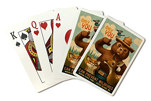 Orcas Island, Washington - Moran State Park - Smokey Bear - Only You (Playing Card Deck - 52 Card Poker Size with Jokers)