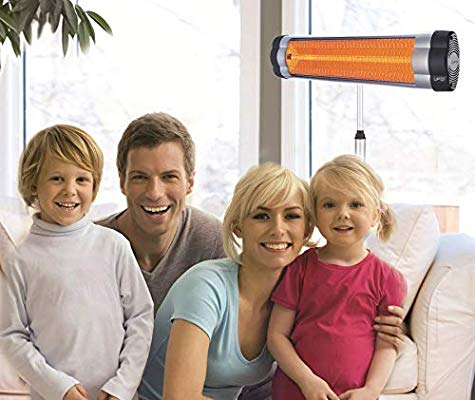 UFO S-24 Wall or Ceiling Mounted Infrared Patio Heater 2400 Watt Silver