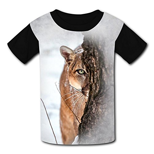 O-Neck 100% Polyester Fiber Soft Short Sleeve Top Tshirt For Unisex Kids,Print A Hidden Lion Xs - Lion O Costume Make