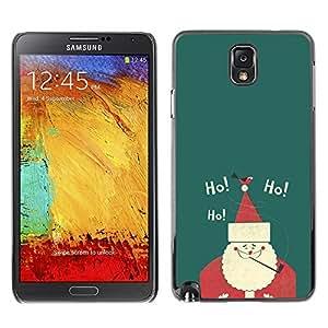 YOYO Slim PC / Aluminium Case Cover Armor Shell Portection //Christmas Holiday Ho Ho Santa Claus 1274 //Samsung Note 3
