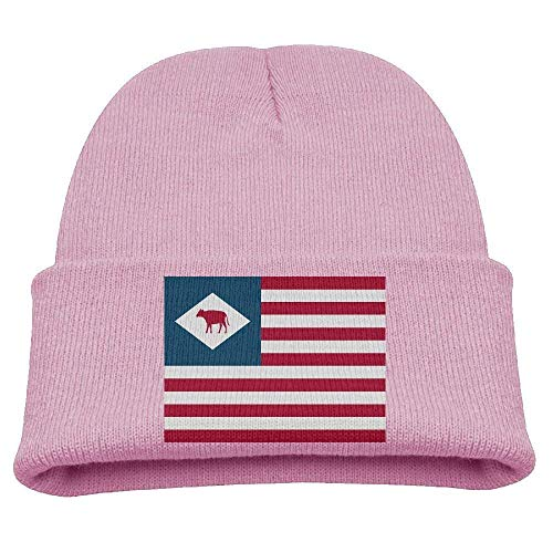 Snabeats DC Flag Kid's Hats Winter Funny Soft Knit Beanie Cap Children Unisex Graphic Print Winter Wool Hat
