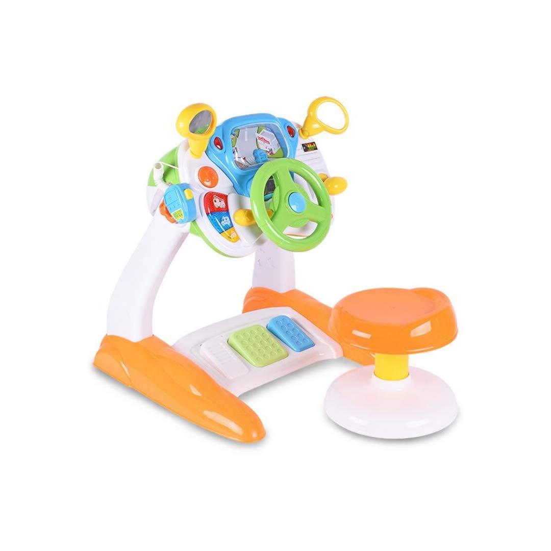 FLYSXP Spieltisch Lenkrad Simulation Cab Studie Tisch Multifunktions Spielzeug Tisch Kinder Pädagogisches Baby Spielzeug Lernspielzeug für Kinder