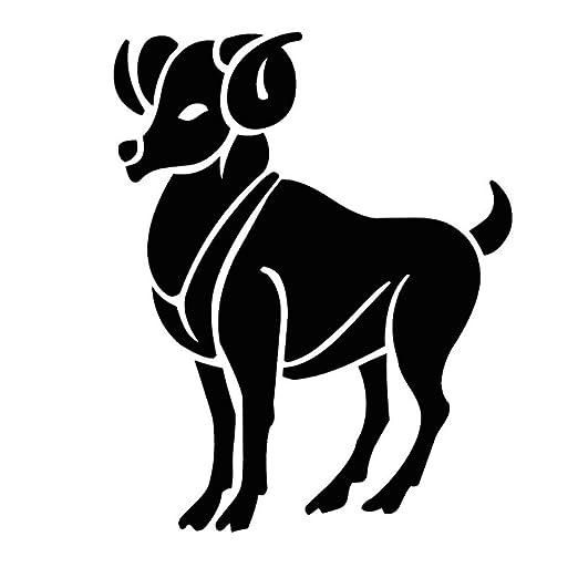 aicedu Etiqueta de la Pared del Zodiaco Chino Cabra Animal Mural ...