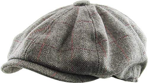 KBW-310 DGY L/XL Ascot Ivy Button Newsboy Hat Applejack Wool Blend - Hat Ivy Newsboy