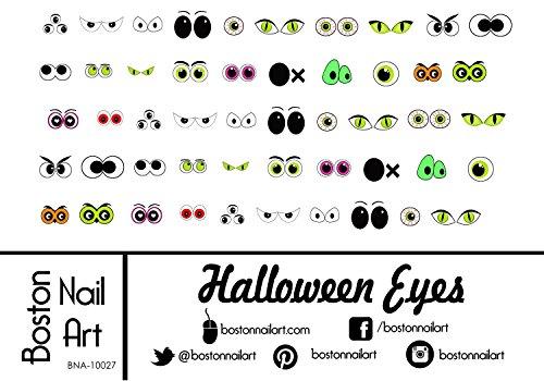 Halloween Eyes Nail Decals - (Halloween Eyes Nail Art)