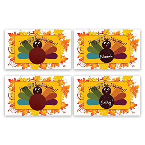My Scratch Offs Thanksgiving Turkey Scratch Off Family Game Card - 25 Pack -