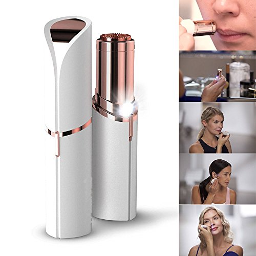 Instant and Painless Facial Hair Remover - 18K Gold Plated - Gentle on All Skin - Types Facial Hair