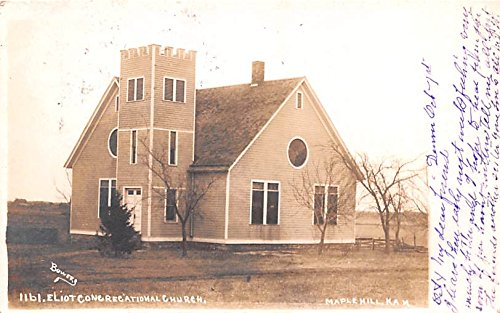 Church Maple Hill, Kansas postcard (Kansas Ks Postcard)