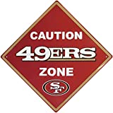 NFL San Francisco 49Ers Caution Wall Sign Plaque, 14″