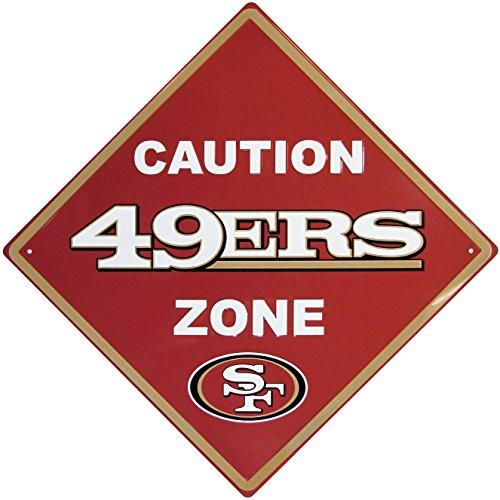 (NFL San Francisco 49Ers Caution Wall Sign Plaque, 14