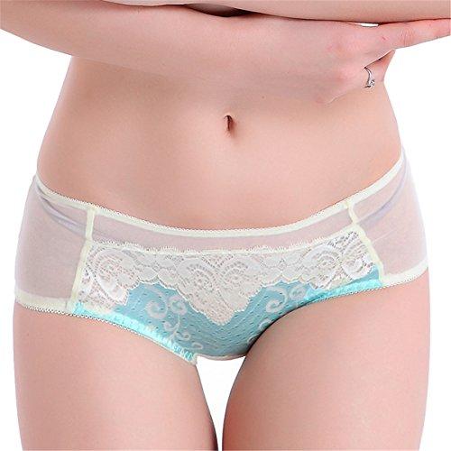YALL-Bragas de las mujeres / ropa interior de encaje cómodo Lblue