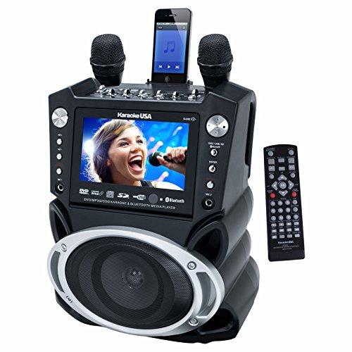 Karaoke USA GF830 Bluetooth Portable DVD/CDG/MP3G/CD Karaoke Machine with...