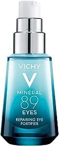 Vichy Minéral 89 Contorno de Ojos - Gel con Ácido hialurónico y Cafeína pura, alisa, hidrata e ilumina, sin fragancia, para piel sensible.