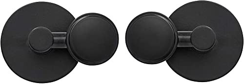 Round Black Pivot Mirror Hardware Tilting Anchors for Mirror or Picture Glass or Plexiglass